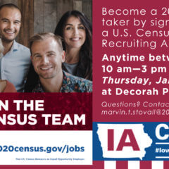 Join us this Thursday January 16 for a Census meeting to learn how to earn extra money and help out our community
