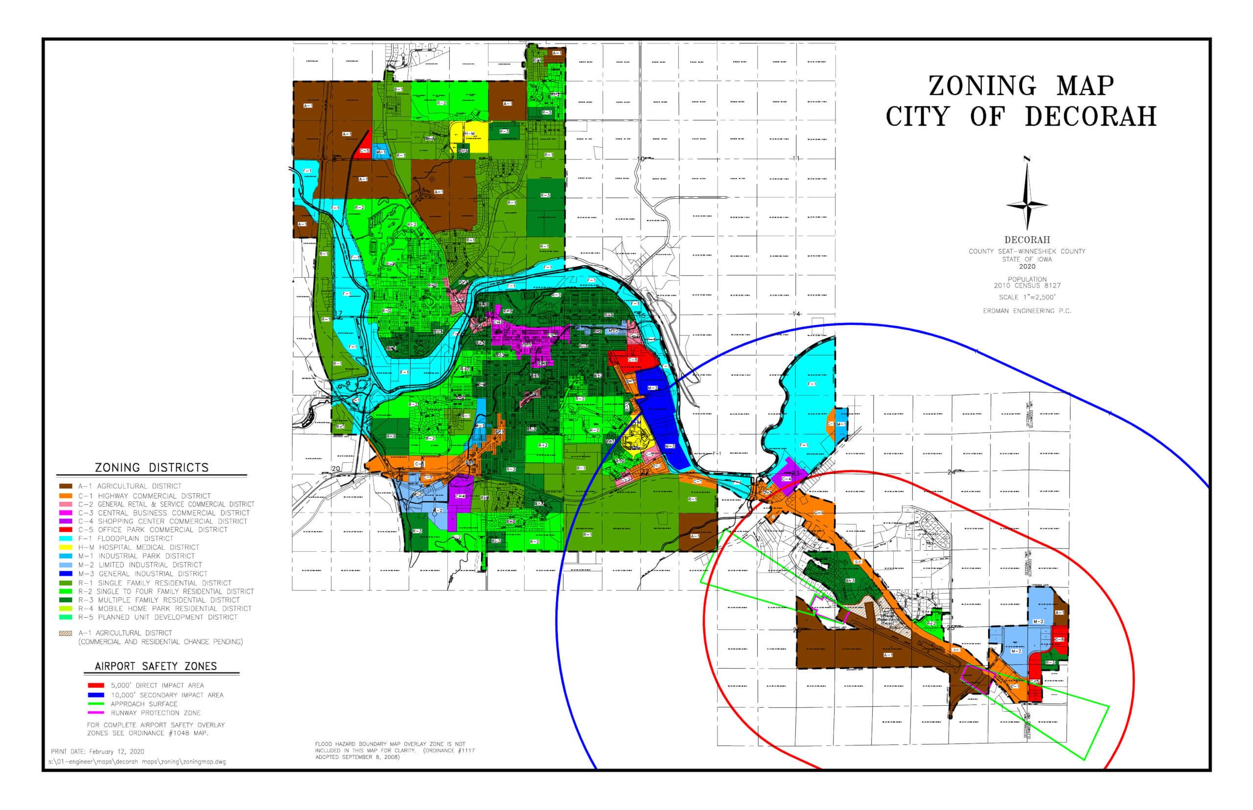 map of decorah iowa Decorah Zoning Map City Of Decorah Iowa map of decorah iowa