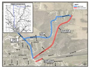Locust Road Construction Detour Map