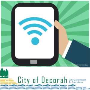 City Wifi Available at City Hall and Decorah Public Library